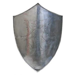 Lion Rampant Steel Shield