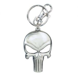 Pewter Punisher Keyring