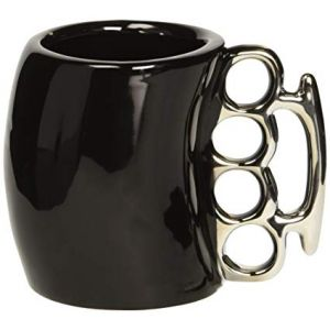 Knuckle Duster Mug in Black