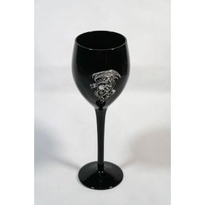 Black Dragon and Skull Glass