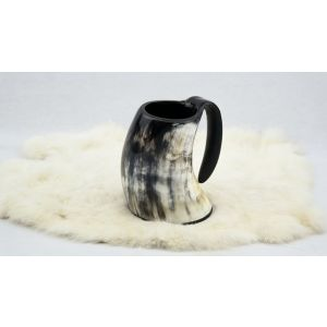 Genuine Natural Horn Drinking Tankard