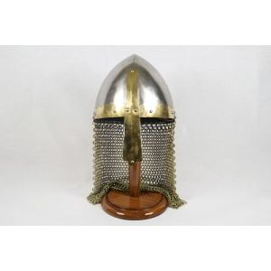 Norman Helmet with Nose Guard and Chainmail