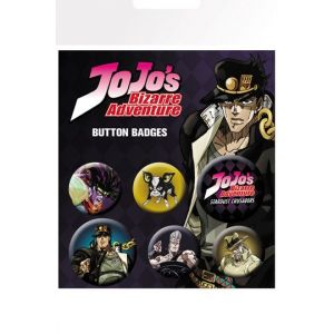 Jojo's Bizarre Adventure Pin Badges 6-Pack