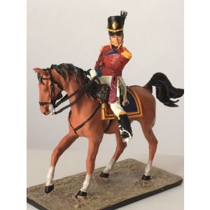 Pewter Gordon Highlander Officer on Horse