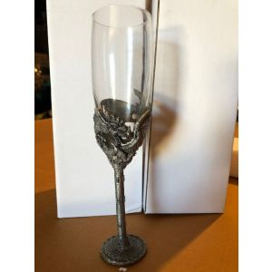 Dragon on Castle Pewter Glass