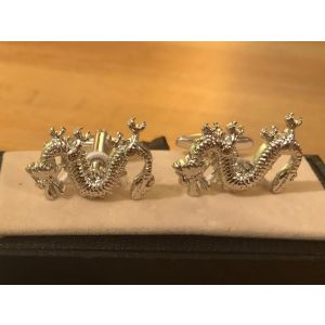 Cufflink Pair in Box Dragons