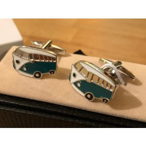 Cufflink Pair in Box Camper Van