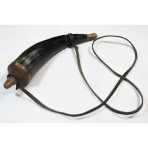 Powder Horn with Leather Strap