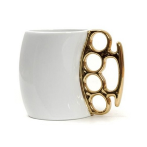 Knuckle Duster Mug in White
