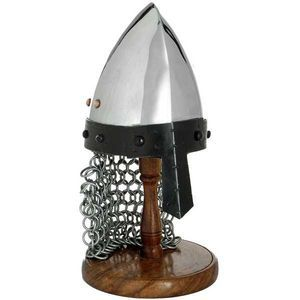 Mini Norman/saxon Helmet On Stand